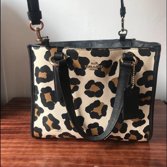 ccfd4dd056c5d Coach Handbags - Coach Mini Crosby Carryall in Ocelot Print Leather